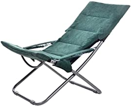 ZNBJJWCP Recliner Folding Lunch Break Nap Bed Balcony Home Leisure Chair Beach Portable Chair Lazy Couch Chair