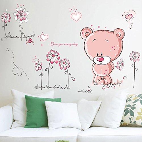 WandSticker4U- Wandtattoo BABY BÄR in rosa - 2