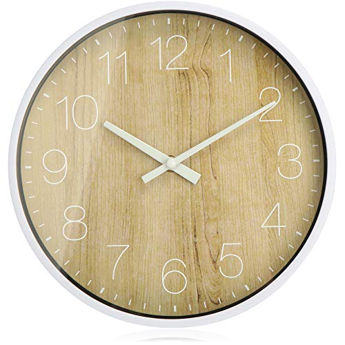 com-four® Reloj de Pared analógico con...