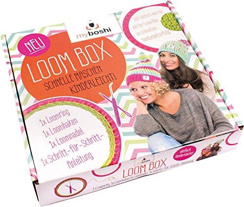 myboshi Strick-Ring | Loom-Set | Loom Ring + Anleitung + Haken + Nadel | ideal für Einsteiger und Kinder