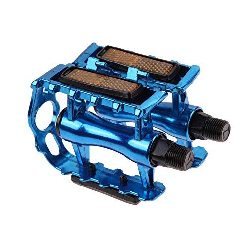 Pedales Pedales de Bicicleta MTB Pedal de Bicicleta Plataforma Ciclismo Aleación de Aluminio Deportes al Aire Libre 4 Colores Pedal de montaña Accesorios de Bicicleta (Color : Blue)