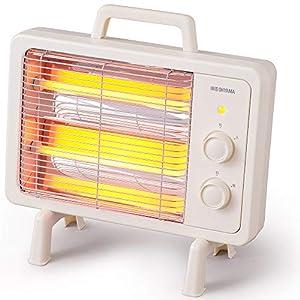 アイリスオーヤマ 電気ストーブ 速暖 転倒時電源OFF 400W/800W 2段階切替 遠赤外線タイプ コンパクト レト...