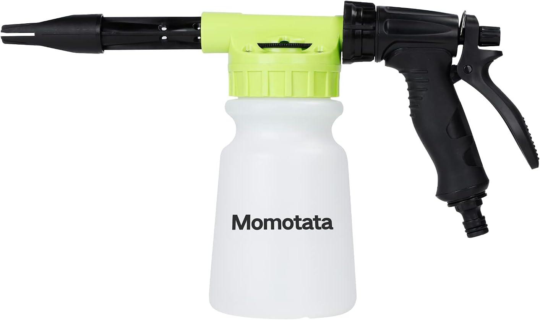 Pistola de espuma de lavado de coche, pistola de espuma de jabón en espray ajustable para limpiar con conector rápido en cualquier manguera de jardín, herramienta de instalación de coche