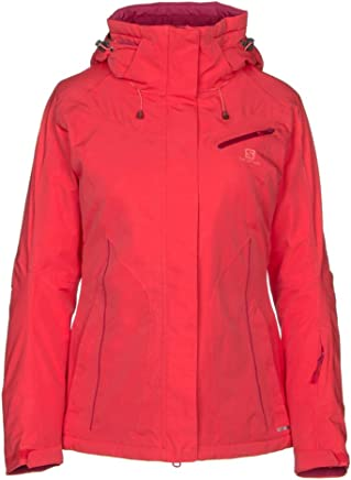 Salomon Stormseason Femmes Manteau de Ski RoseRouge planet3