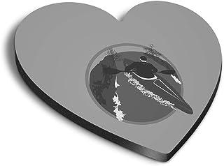 Destination Vinyl ltd Aimants en MDF en forme de cœur – BW – Canoë, kayak, sports nautiques pour bureau, armoire et tablea...