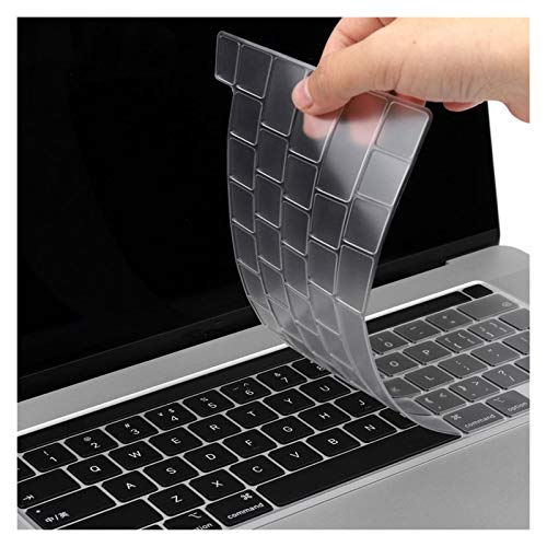 Soft Skin Protector, EU/UK/US Type TPU Clear Keyboard Cover For Macbook Newest Pro 13 2020 A2251 A2289 Pro 16 inch 2019 A2141Touch Bar keyboard Skin Waterproof Dust-Proof