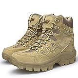Bititger - Botas de desierto militares de piel, impermeables, con cremallera, botas tácticas y de combate para hombre, para patrullas, de seguridad, para policías, color, talla 44 EU