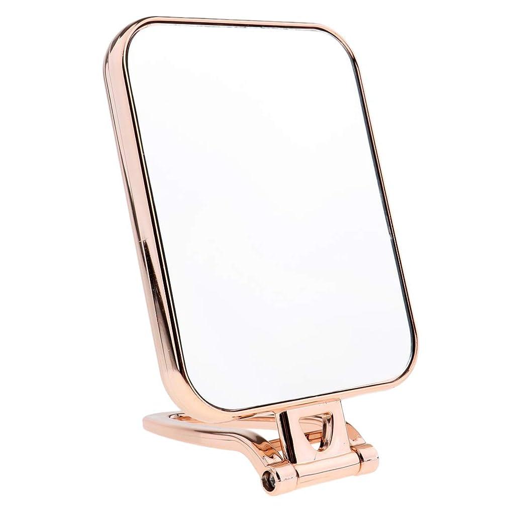 感謝するオレンジ急ぐSM SunniMix 3色選択 スクエア 化粧鏡 化粧台ミラー スタンド付き 卓上ミラー 両面ミラー 両面鏡 - ゴールド