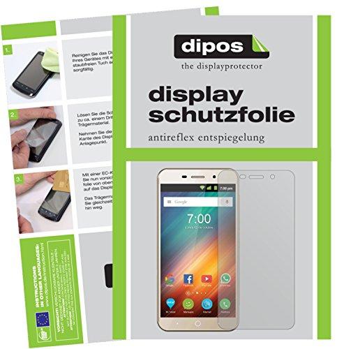 dipos I 2X Schutzfolie matt kompatibel mit ZTE Blade A602 Folie Displayschutzfolie