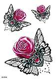 Brazo De Piedras Preciosas De Flores 15X21cm-3Pcs Pegatinas De Tatuaje Temporal De Brazo Completo Pegatinas De Transferencia De Tatuaje Temporal A Prueba De Agua Para Niños Adultos Pegatinas Y Arte