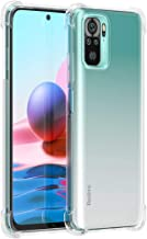 Shining Zon Soft Silicon Shockproof Camera Protective Back Cover for Redmi Note 10 Note 10s Back Case Transparent