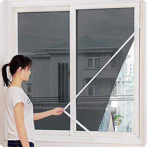 NO LOGO LT-Home, 1pc Indoor-Insekt-Fliegen-Schirm-Vorhang Mesh-Bug Moskitonetz-Tür-Fenster Anti-Moskito-Netz for Küchen-Fenster 611 (Farbe : Schwarz)