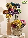 2 ortensie stabilizzate colorate, fiori veri stabilizzati, per arredare la tua casa, omaggio petali di ortensia colorati per fai-da-te [arancione]