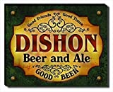 ZuWEE Beer & Ale Themed Gallery Wrapped Canvas Print Personalized with The Dishon Family Name