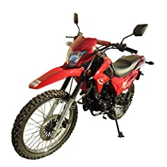 This 250cc Motorcycle Dirt Bike can't ship to CA,PA. A stylish high performance exhaust pipe included on this bike is design to enhance both performance and style to the bike! Front 80/100-21 and Rear 110/100-18 Fat Tire, More Traction! Big Wheel, Hu...