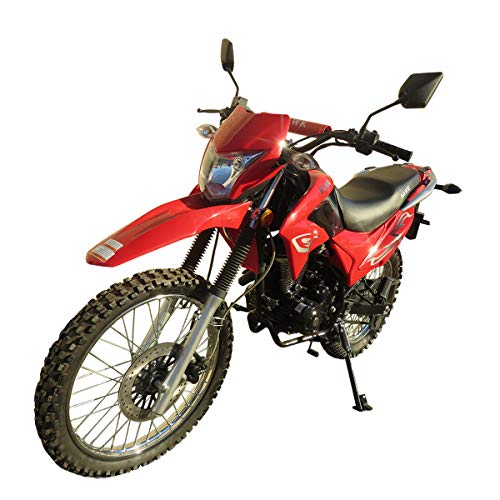 250cc Dirt Bike Hawk 250 Enduro Street Bike Motorcycle Bike(Red)