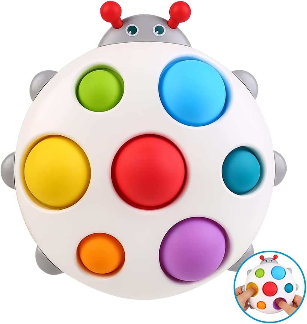 Ingooood Simple Dimple Fidget Toy Baby Toys 6 to 12 Months, Sensory Toys for Toddlers Age 1-3, Birthday Gifts for 1 2 Year Old Boy Girl