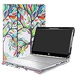 Alapmk Schutz Abdeckung Hülle für 14' HP Pavilion x360 14 14-baXXX (14-ba000 to 14-ba999,Such as 14-ba026ng,etc) Notebook,Love Tree