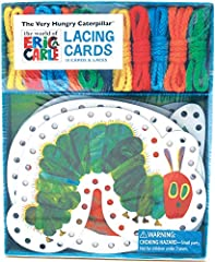 LACE UP WITH VERY HUNGRY CATERPILLAR & FRIENDS: The beloved caterpillar makes its return in this fun set of lacing cards. DEVELOP HAND-EYE COORDINATION: Lacing in and out of pre-punched holes improves hand-eye coordination for small children. IMPROVE...