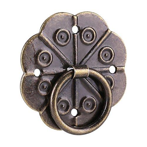 20 Pezzi di Stile Retrò Forma di Prugna Manopola Con Maniglia ad Anello Adatto per Cassetti da Cucina Armadio Scatola di Legno Porta Credenza (3 * 3cm)