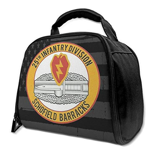 25. INFANTERIE-ABTEILUNG CIB COMBAT ACTION BADGE Isolierte Tasche Lunch Bag Isolierte Lunch Box Einkaufstasche Kühltasche Für Picknickarbeiten