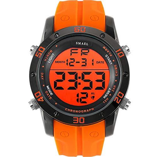 Orologi moda Uomo Arancione Casual Orologi digitali Sport Orologio a LED Orologio da uomo automatico Data 1145 Orologio da polso da uomo Impermeabile