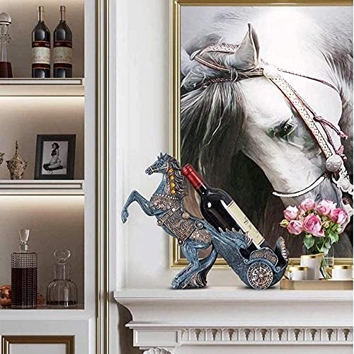Botellero para botellas de vino, decoración para manualidades, sala de estar, comedor, mesa de vino, decoración creativa, para el hogar/bar (color: B)