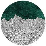 LYYYT-DT Moderno Estilo Simple Alfombra geométrica alfombras Redondas 80 cm 100 cm 120 cm 140 cm 160 cm 180 cm 200 cm Sala de Estar Verde Dormitorio Cocina Sala de Estudio Alfombra-120 * 120cm