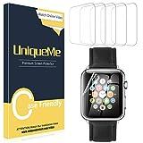 UniqueMe [5 Pack] Protector de Pantalla para Apple Watch 40mm Series 4/5, [Fácil instalación] Soft...