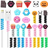 Frienda 30 Pieces Phone Protect Accessory Charging Cable Protectors Cute Charger Protectors Cord Protector Cord Saver USB Charger for Cellphone Data Lines