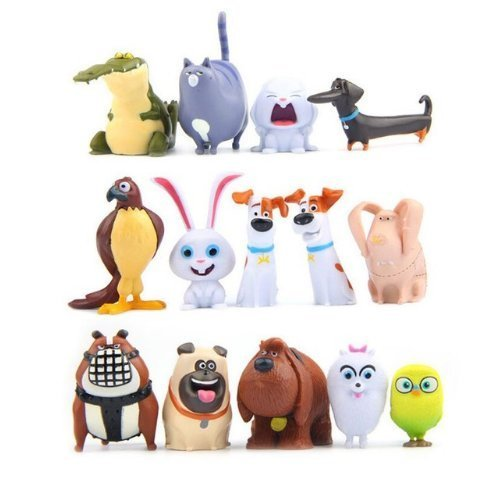 PLUSHUNIVERSE 14 PCS The Secret Life of Pets PVC Movie Toy Collection Gift