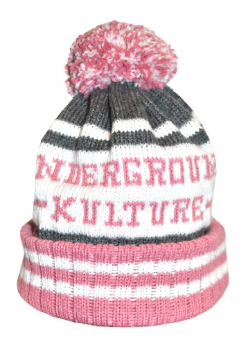 Underground Kulture Rose Collège Bonnet Chapeaux (College Beanie Hat Pink)