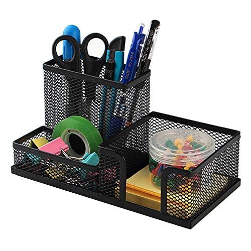 Organizer per matite, organizer per ufficio, multifunzionale, portapenne, vassoio quadrato per matite, carta da lettere