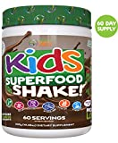 Kids Superfood Shake Mocha Greens Powder by Feel Great 365 (60 Servings), 100% Non-GMO, Made with...