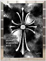 アートショップ フォームス ブランドオマージュアート/クレイグ・ガルシア「クロムハーツ/クロス(S)」A2ポスター