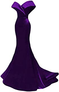 Off The Mermaid Prom Dress Satin Evening Dress Party Gowns For Women