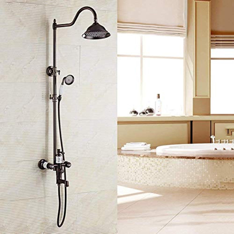 Willsego Duschset handbrause European Vintage Shower Kupfer schwarz hebebadezimmer warme und kalte thermostatdusche wanddusche