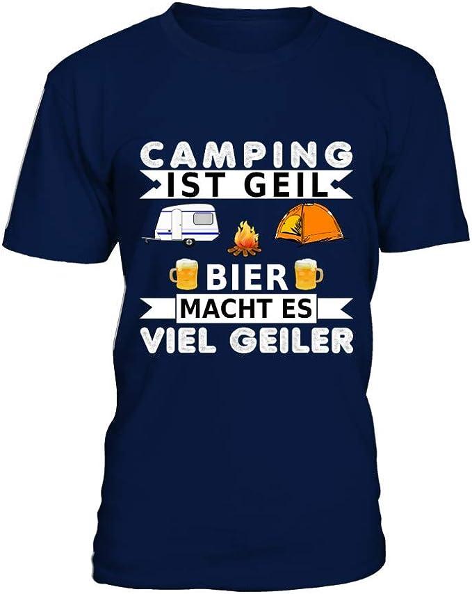 Männer T-Shirt Camping und Bier ist geil : Amazon.de