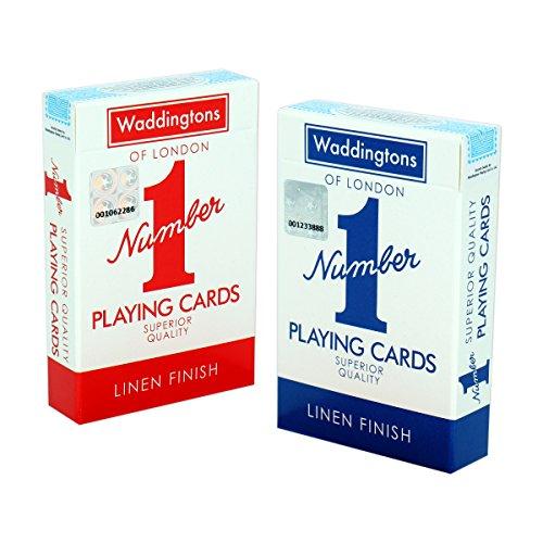 Waddingtons, klassisches Rot und Blau, Doppelpack