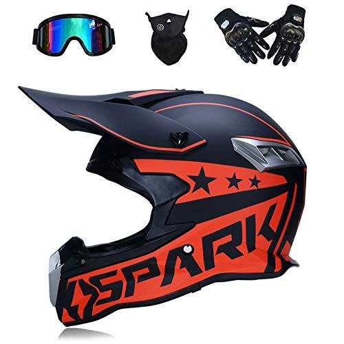 Casco de Motocross, para Adultos Exteriores Cascos de Bicicleta de Montaña, Cross...