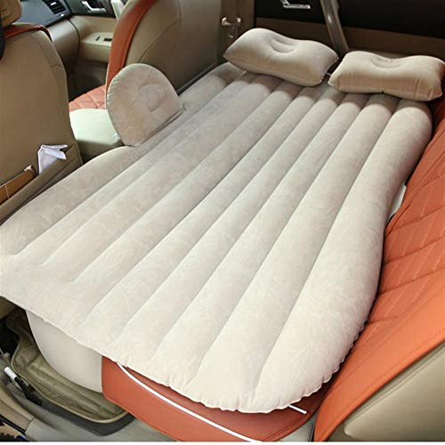 Large Size Durable Car Back Seat Cover Car Air Mattress Travel Bed Moisture-proof Inflatable Mattress Air Bed For Car Interior,Air Mattress Bed Air Mattress Bed (Color Name : Beige)
