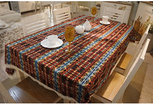 JCRNJSB® Ethnique Wind Cloth Diamant Stripe Lijiang Bar Vents Cloth Nappe Lavable et facile à entretenir ( Couleur : #1 , taille : 140*140cm )