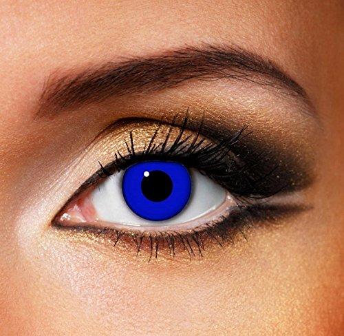 Funky Vision Kontaktlinsen - 12 Monatslinsen, Royal Blue, Ohne Sehstärke, 1 Stück