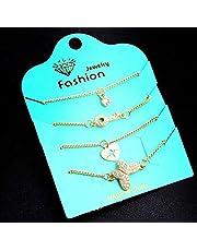 Set of women gold bracelet