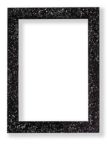 Memory Box Glitzer Range Bilderrahmen funkelndem Glitzer Effekt Bild/Foto/Poster Rahmen mit Kunststoff Glas–glitterng-Px-RL-glsparent, Schwarz, 11.8