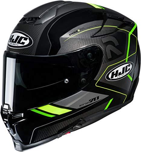 Motorradhelm HJC RPHA 70 COPTIC MC4H, Schwarz/Grau/Neongelb, XS