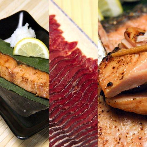 【敬老の日に】塩引き鮭・酒びたし・鮭の味噌漬けセット