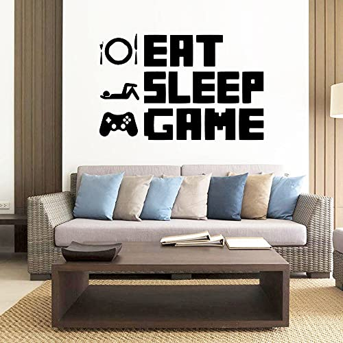 Eet Slaap Spel Sticker Herhaal Spelen Game Room Decal Game Poster Vinyl Muursticker Decoratieve Muurschildering Sticker…