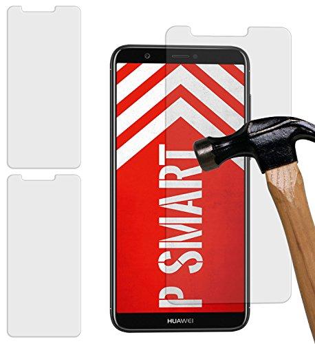 Yayago [2 Pack] Pellicola Protettiva ultra resistente 9H in vetro temperato con spessore di 0,26 mm per Huawei P Smart (volutamente più piccolo display)