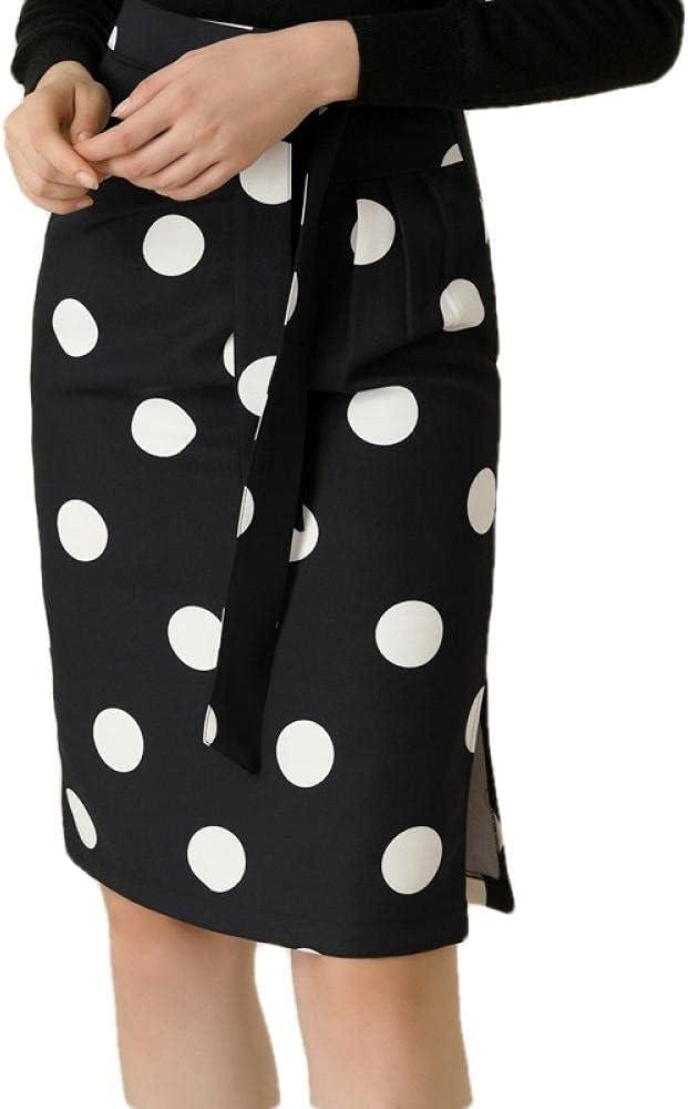 ERTYUIO Short Skirt Set Women's Clothing All-Match Ol Professional Temperament Polka Dot Package Hip Lace Skirt